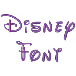 Disney Font embroidery font