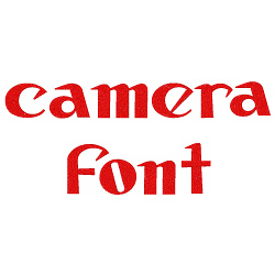 Camera Font embroidery font