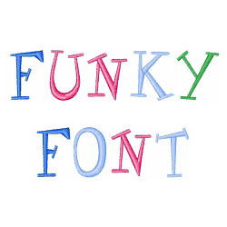 Funky embroidery font