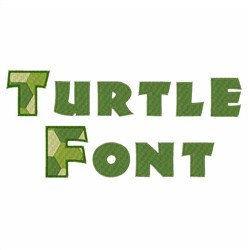 Turtle Font  embroidery font