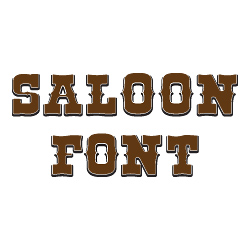 Saloon Font embroidery font