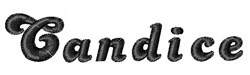 Candice embroidery font