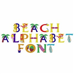 Beach Alphabet - Fonts for Machine Embroidery | EmbroideryDesigns com