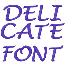 Delicate Hand embroidery font