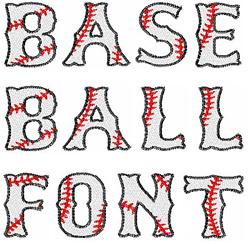BASEBALL Font embroidery font