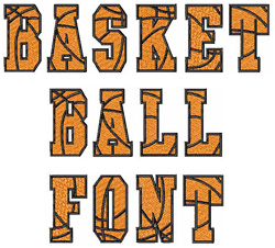 BASKETBALL Font by Embroidery Patterns Home Format Fonts on ...