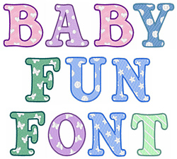 Baby Fun embroidery font