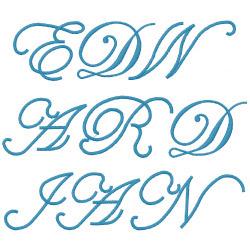 Edwardian Script embroidery font