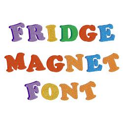 fridge magnet font embroidery font