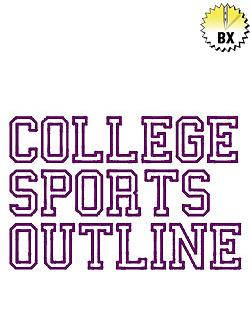 College Sports Outline - Fonts for Machine Embroidery