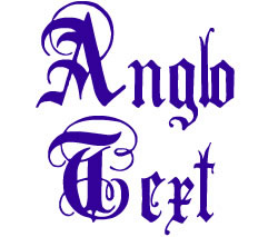 Anglo Text Alphabet embroidery font