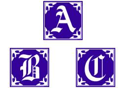 Gothic Caps Alphabet embroidery font