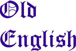 Old English Alphabet embroidery font