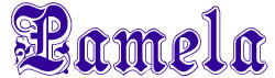 Pamela Alphabet embroidery font