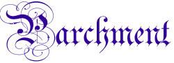 Parchment Alphabet embroidery font