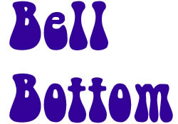 Bell Bottom embroidery font