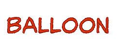 Balloon embroidery font