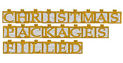 Christmas Pack Filled embroidery font