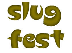 Slugfest embroidery font