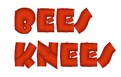 Bees Knees embroidery font