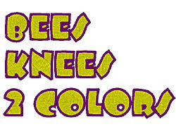 Bees Knees 2 Color embroidery font