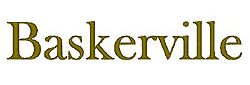 Baskerville embroidery font