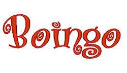 Boingo embroidery font