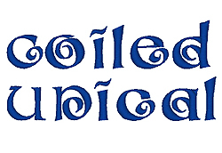 Coiled Unical embroidery font