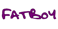 Fatboy embroidery font