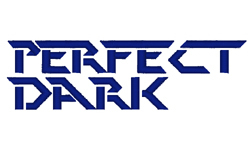 Perfect Dark embroidery font