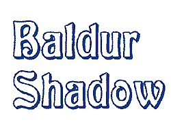 Baldur Shadow embroidery font