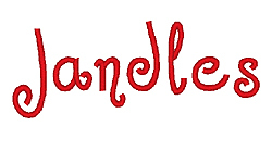 Jandles embroidery font