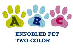 Ennobled Pet 2 Color embroidery font