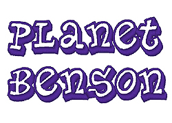 Planet Benson embroidery font