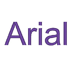 Arial embroidery font
