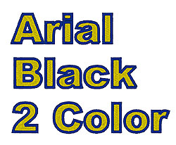 Arial Black 2 Color embroidery font
