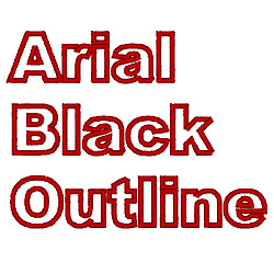 Arial Black Outline embroidery font