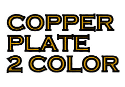 Copperplate 2 Color embroidery font