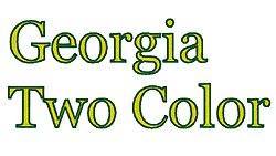 Georgia 2 Color embroidery font