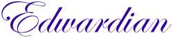 Edwardian Alphabet embroidery font
