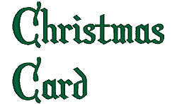 Christmas Card embroidery font
