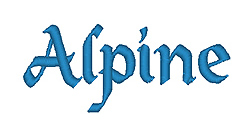 Alpine embroidery font