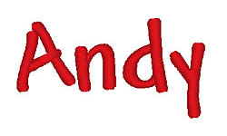 Andy embroidery font
