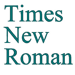 Times New Roman embroidery font