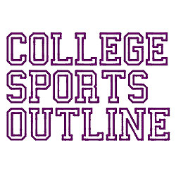 College Sports Outline Embroidery Font
