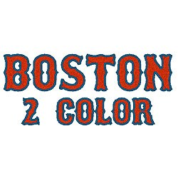 boston 2 color by fireside threads home format fonts on rh embroiderydesigns com  boston red sox b logo font
