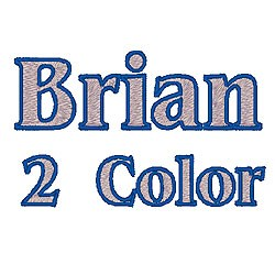 Brian 2 Color embroidery font