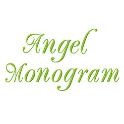 Angel Monograms embroidery font