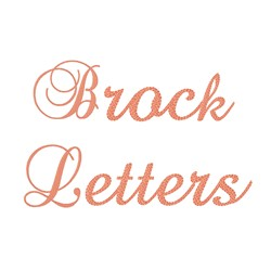 Brock Alphabet embroidery font