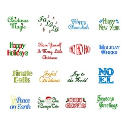 Holiday Words embroidery font